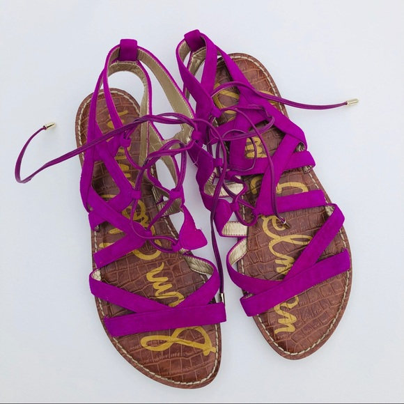"""f85402eaf70f5a Sam Edelman """" Gemma"""" gladiator sandals fuchsia 9. M 5c3fad7a035cf12fcc578991"""
